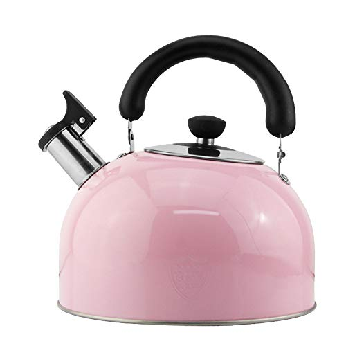 WXH Teapot Edelstahl Teekanne/Poliverner kleine Kaliber Großkaliber große Kapazität fein gemachte Filter-Familienhotel Fine Coffee oder Teapot,Pink