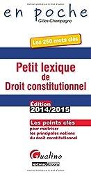 Petit lexique de droit constitutionnel 2014-2015