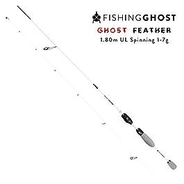FISHINGGHOST Canne à pêche – Canne à lancer – Canne – Hechtrute – Transmission de puissance directe Lors de la pêche à la truite, à l'omble, à la perche, au sandre, à la morue, à la truite grise, au saumon