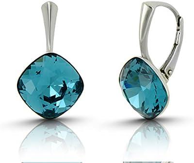 Galaxy joyas pendientes con plata de ley 925con cristal swarovski Indicolite–Ideal elegante regalo para las mujeres y las niñas en una caja de regalo–impress con su estilo