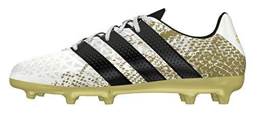adidas Ace 16.3 Fg J, Chaussures de Football Entrainement Mixte Enfant Blanc (Ftwr White/core Black/gold Metallic)