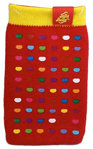 Jelly Belly Universal Mobile Phone Sock for iPhone, iPod, MP3 and Smartphone Devices - Very Cherry