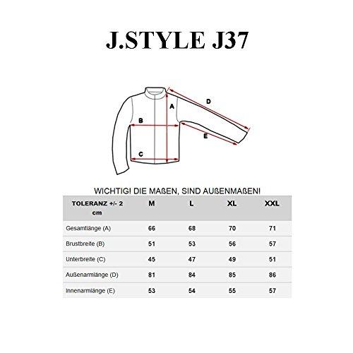 BOLF Herren Sweatshirt Pullover Langarmshirt Pulli Classic Slim Fit 1A1 Motiv Grau-Schwarz