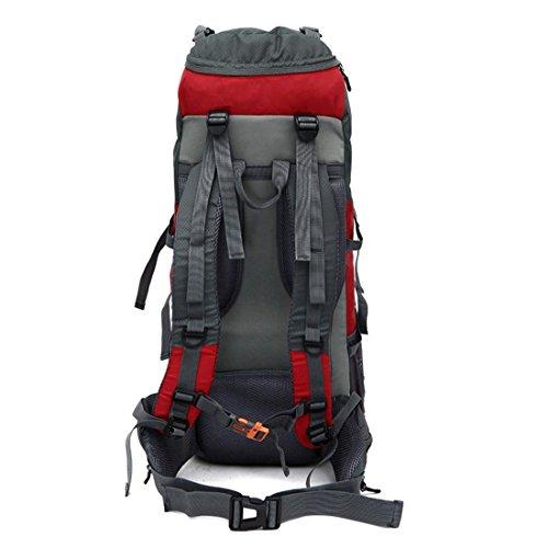 Groß Professional Outdoor Rucksack Wasserdicht Bergsteigen Tasche Sport Rucksack Reisen Rot