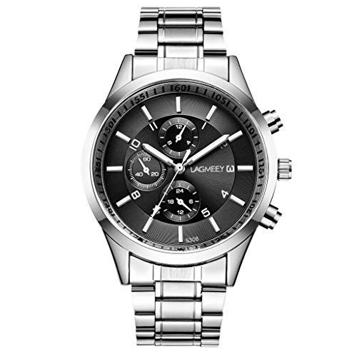 Cyan Smart Print (TWISFER Herren Uhr Männer Wasserdicht Chronographen Edelstahlarmband Großes Armbanduhr Mann Business Sport Mode Designer Analog Leuchtende Uhren)