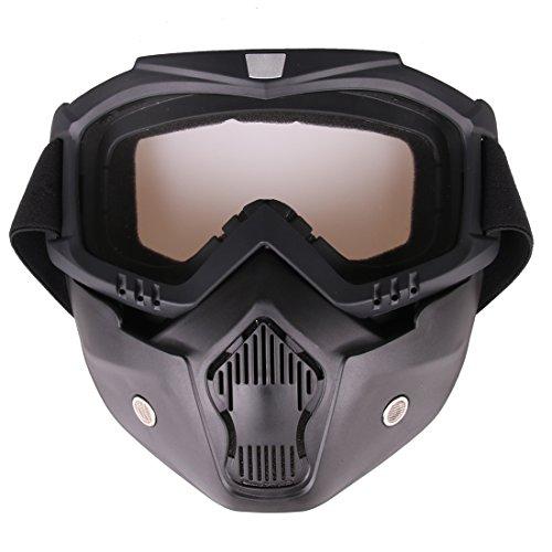 POXL Mascara Airsoft Máscara Tactica Protectora Paintball Máscara con Desmontable Gafas Facial Máscara para Nerf, Airsoft o Paintball