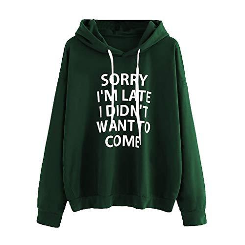 MAYOGO Heißer,Hoodie Damen Tumblr Langarm Winter Sale,Einfarbig Kapuzenpullover Pulli Sweatshirt mit Alphabet Drucke S-XXXL in 7 Farbe