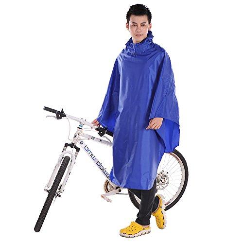 Hommes Et Femmes Mode Montagne Vélo Simple Raincoat Riding Poncho Student Bicycle Raincoat ( couleur : Rouge ) Bleu