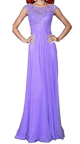 Reizvolle Damen SpitzehäKelarbeit Spleißen Rückenfrei Chiffon Kleid ...