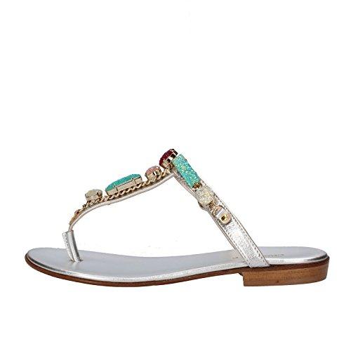 CESARE PACIOTTI sandali donna 37 EU argento pelle AF934-B