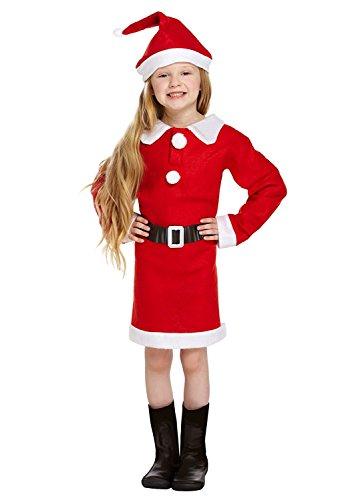 Santa Mrs Claus Nativity Fancy Dress Costume - 7-9 Years (Mrs Santa Halloween Kostüm)