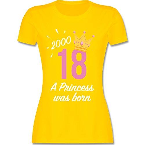 Geburtstag - 18 Geburtstag Mädchen Princess - L - Gelb - L191 - Damen T-Shirt Rundhals