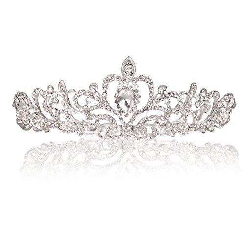 Makone Tiara Corona di Cristallo con Strass Pettine per la cerimonia nuziale Corona Prom Dresses Pageants Princess Parties Birthday