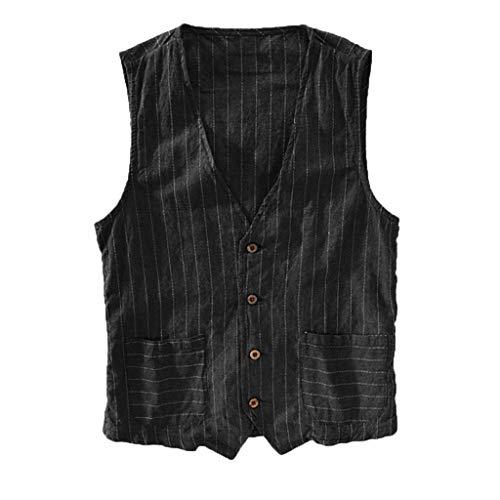 Gilet uomo slim fit maniche corte vjgoal® coreana bianche quadri canotta bodybuilding camicie uomo lino eleganti classiche fantasia colorate jeans con bottoni maglietta estive spiaggia t-shirt