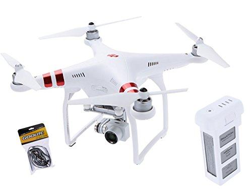 Original DJI Phantom 3 Standard Version FPV Live Übertragung RC Quadrocopter mit 2.7K HD Kamera Auto Hover / Live GPS / Auto Heimkehr / Failsafe RTF Drohne+Extra Original Akku (Dji Phantom Gps Drohne)
