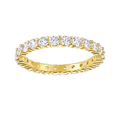 Vergoldet Kristall transparent Rundschliff 5257474 ()