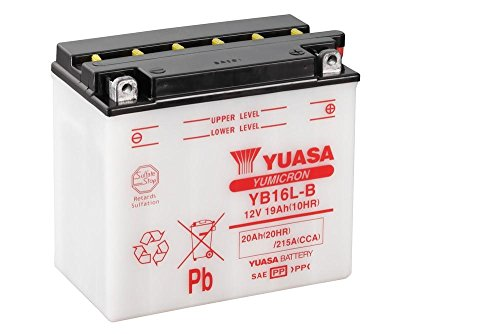 Motor–Batteria moto YUASA yb16l della B, 12V/19ah (dimensioni: 176X 101X 156)