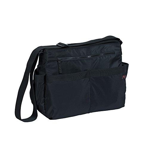 MARV by Lässig Wickeltasche Shoulder Bag inklusiv Flaschenhalter, Wickelunterlage und Kinderwagenbefestigung, schwarz