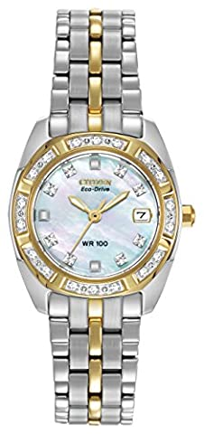 Citizen Eco-Drive Paladion EW1594-55D Women's Two-Tone Diamond Watch