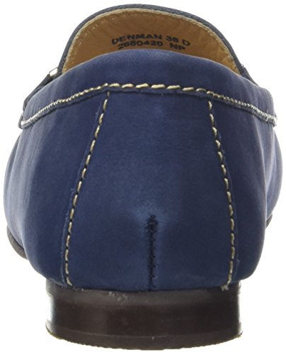 Van Dal Damen Denman Slipper Blue (Midnight Nubuck)