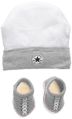 (Converse Baby-Jungen Bekleidungsset Hat and Bootie, Mehrfarbig (Vintage Grey Heather), 0/6 Monate (Herstellergröße: 0-6M))