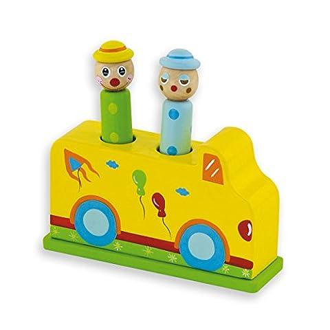 Andreu Toys 11,5x 3,5x 10,5cm Circus Pop-Up Spielzeug (Mehrfarbig)