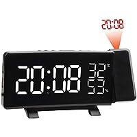 Sunnyday Reloj Despertador Multifuncional LED Digital Proyección electrónica ...