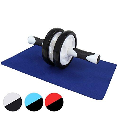 Physionics Bauchtrainer Bauchmuskeltrainer AB Roller mit Matte in drei verschiedenen Farben