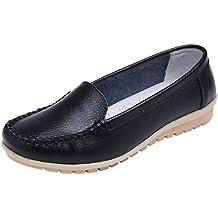 Zapatos Mujer,Las Mujeres de Zapatos de Cuero Genuino Zapatos Mocasines resbalón en el Zapato