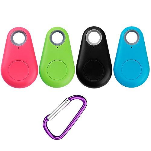 fang FANS Neue Bluetooth Smart Mini GPS Tracker Kinder Haustiere Brieftasche Schlüssel Alarm Locator Echtzeit Alarmr Schlüsselsucher (4PC)