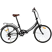"Moma Bikes Plegable Ruedas 24"" Shimano. Aluminio Bicicleta, Unisex Adulto, Negro"