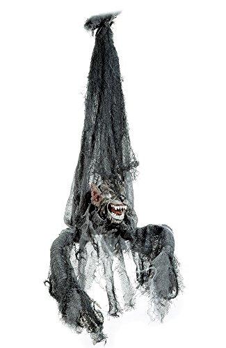 Hängender Werwolf mit Sound, beweglichem Kopf und leuchtenden Augen - GRUSELIG (Animierte Halloween)
