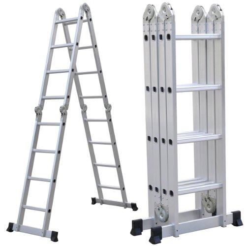 Yahee Mehrzweckleiter Anlegeleiter Klappleiter Gelenkleiter Leiter 6 in 1 Funktion 4,7m