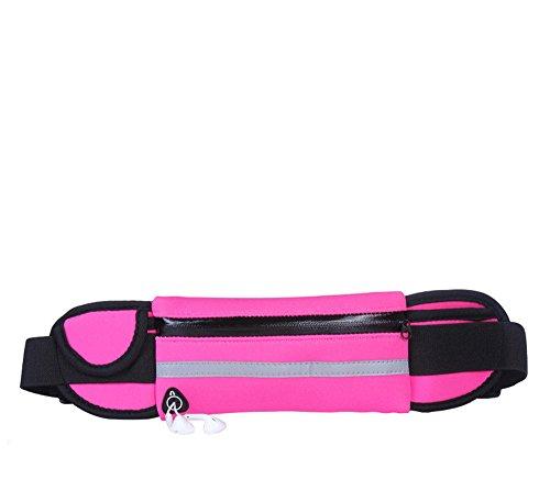 ZYPMM Anti-Diebstahl-Handy Außensporttaschen Taschen Männer und Frauen wasserdicht Multifunktions-taktisches Stealth-Flasche Taschen (wasserdicht) ausgeführt Rosa