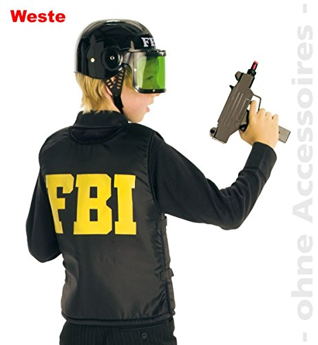 Unbekannt Kinder Kostüm FBI Weste Agent Polizist Karneval Fasching Gr.164 (Fbi Agent Kostüm Weste)