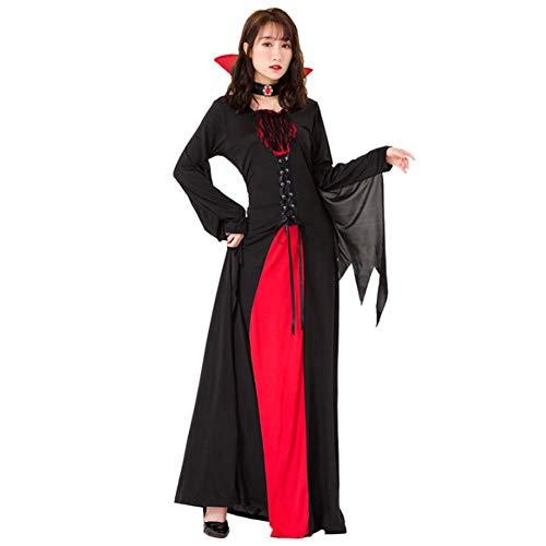 Erwachsene Kostüm Für Maleficent'deluxe - ZXL Halloween Weinrot Vampir Zauberer Kostüm Lady Deluxe Maskerade Kostüm Sexy Zauberer Kostüme,M