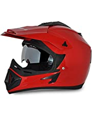 Vega Off Road OR-D/V-R_M Full Face Motocross Helmet (Red, M)