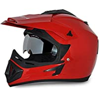 Vega - OR-D/V-R_L Off Road D/V Red Helmet-L