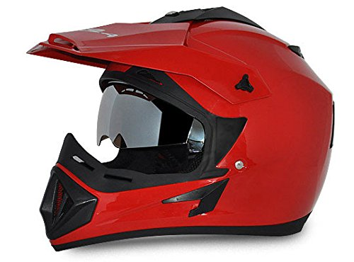 Vega Off Road OR-D/V-R_M Full Face Motocross Helmet (Red, M)