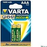 VARTA Blister de 2 Accu photo Micro AAA, 1,2 volt/1000 mAh