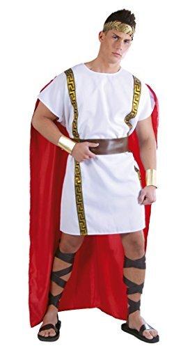 Herren Römisch ALTE HISTORISCHE GRIECHISCHE Toga Kostüm Kleid Outfit groß - Weiß, Large (Griechische Toga Kostüme)