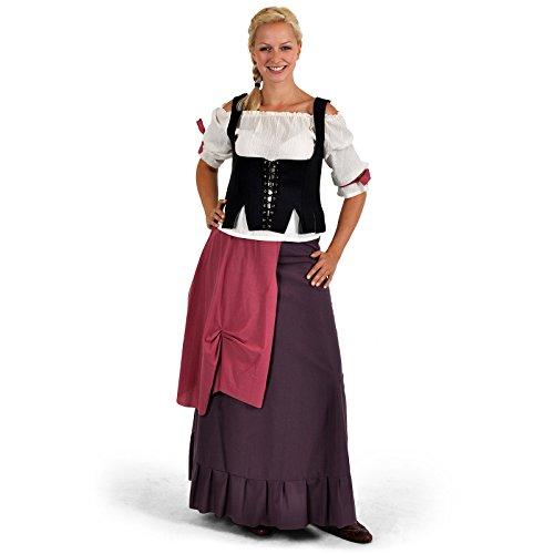 Wirtin Frau Kostüm (Mittelalterliche Wirtin - Mittelalterkostm - XS,)
