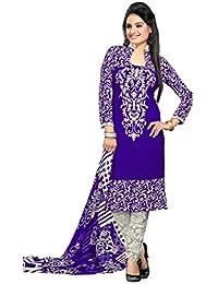 K Designer Women's Chiffon Unstitched Dress Material (Mehak7003_Multi-coloured_Freesize)