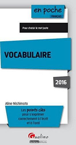Vocabulaire 2015-2016, 4ème Ed.