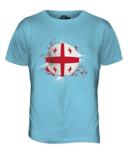 CandyMix Georgien Fußball Herren T Shirt Himmelblau