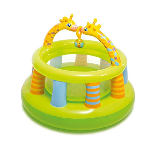 Bouncy Castles Toy Pool Crawling Pool Inflatable Fence Indoor Game Pool Inflatable Castle Toy Game Fence Best Gift For The Kids ( Color : Green , Size : 130x130x104cm )