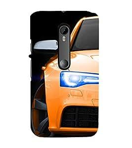 EPICCASE Orange Car Mobile Back Case Cover For Moto X Style (Designer Case)
