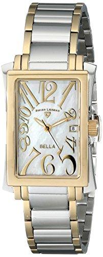SWISS LEGEND 40034-SG-22 - Reloj para mujeres, correa de acero inoxidable color plateado