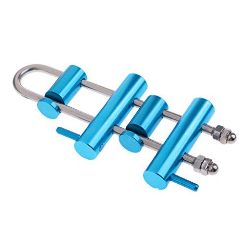 Homyl discensore ascendere fusibile dispositivo attrezzature do discesa in corda doppia arrampicata alpinismo - blu
