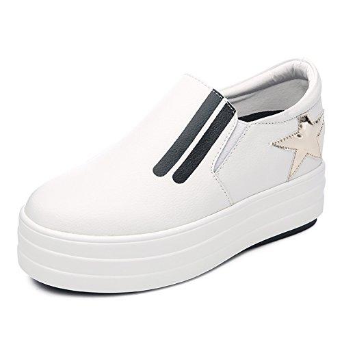 Chaussures d'automne/Étoiles noires haute plate-forme chaussures femme/Chaussures épaisses Joker à la fin du printemps et l'automne B